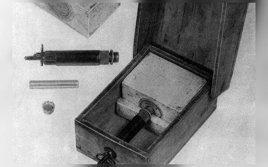 Nacių priešpėstinė mina dažnai naudota ir slaptam patalpų bei daiktų minavimui