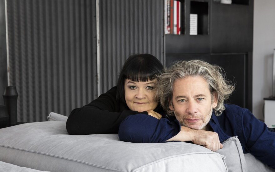 D. Ibelhauptaitė su savo vyru D. Fletcheriu