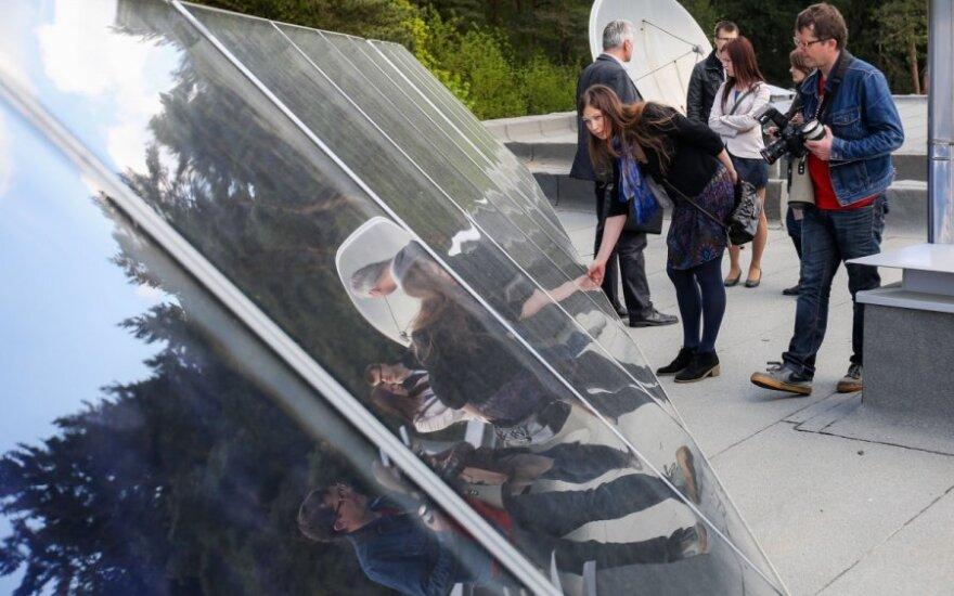 Anykštėnai vandenį šildys naudojant saulės energiją