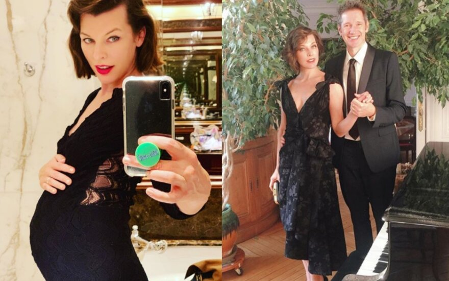 Milla Jovovich su vyru