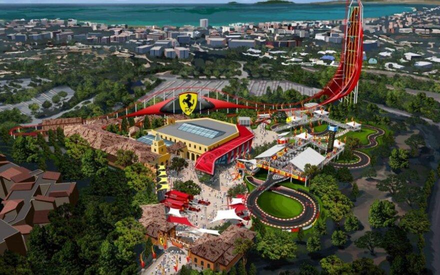 Ferrari pramogų parko Ispanijoje vizualizacija