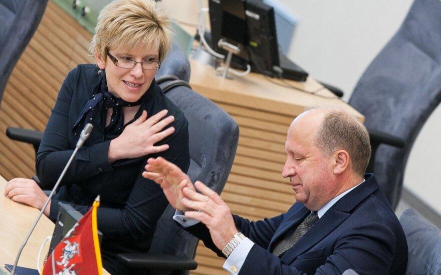 Ingrida Šimonytė and Andrius Kubilius