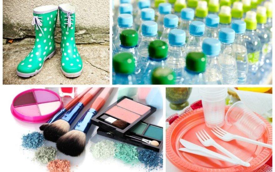 Cheminės medžiagos - guma, plastikas, dažai, plastmasės
