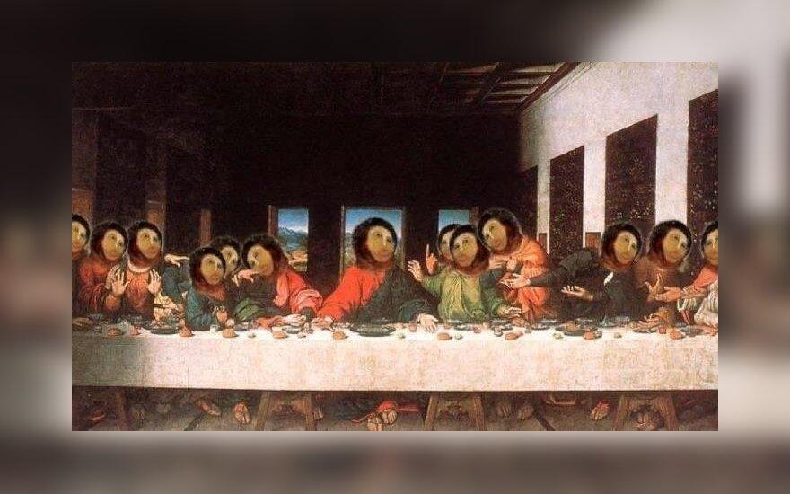 Nevykusi freskos restauracija – įkvėpimas internautų parodijoms
