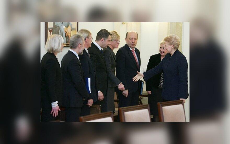 D.Grybauskaitė ir valdančiosios koalicijos atstovai