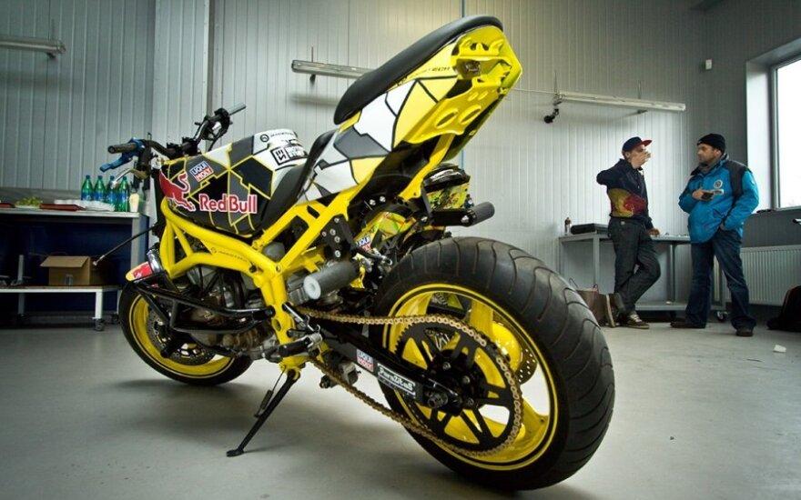 Naujas Arūno Gibiežos motociklas