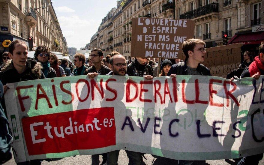 Dėl protesto uždarytas elitinis Prancūzijos universitetas