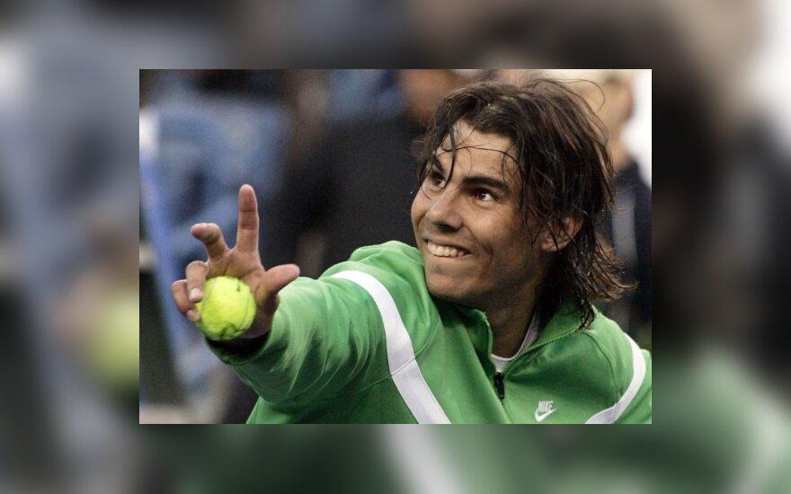 R.Nadalis pergale pradėjo teniso turnyrą Kalifornijoje