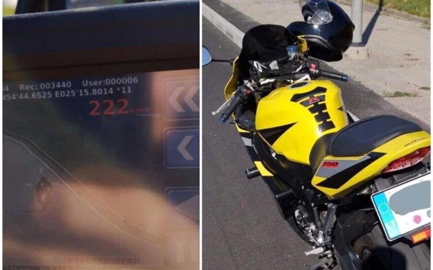 Vilniuje motociklininkas liūdnai užbaigė sezoną: mėgavosi geru oru lėkdamas 222 km/val. greičiu