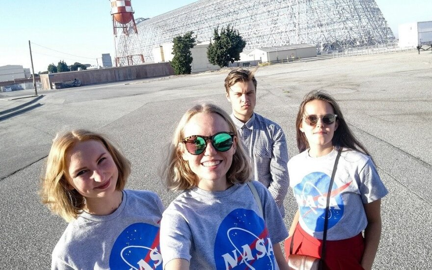 Lithuanian students' internship at NASA 2018