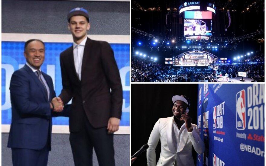 Deividas Sirvydis, NBA naujok7 biržos ceremonija, Zionas Williamsonas