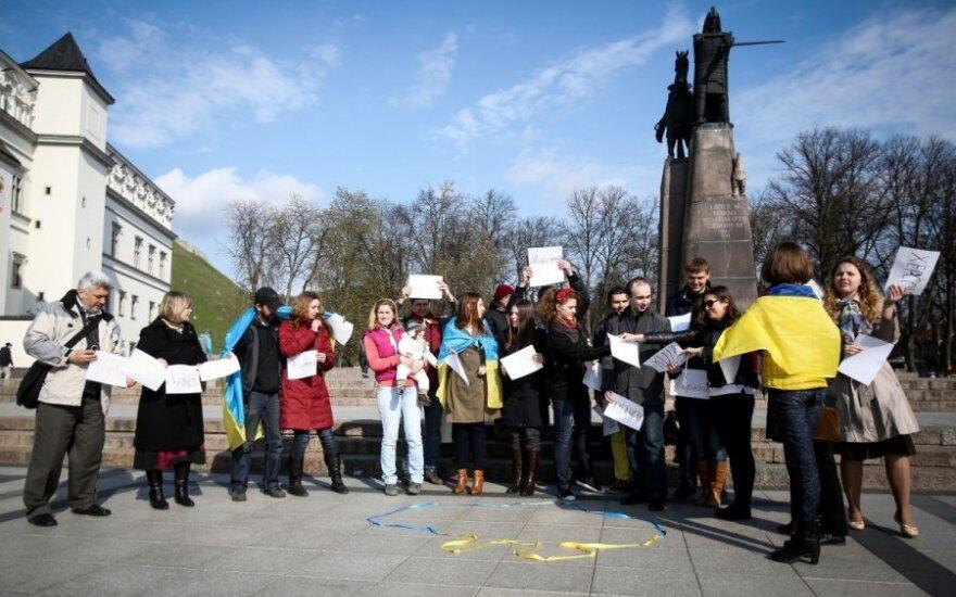 Vilniuje demonstruota Ukrainos regionų vienybė