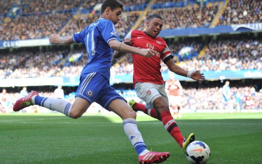 "Oscaras (""Chelsea"") ir Alexas Oxlade-Chamberlainas (""Arsenal"")"