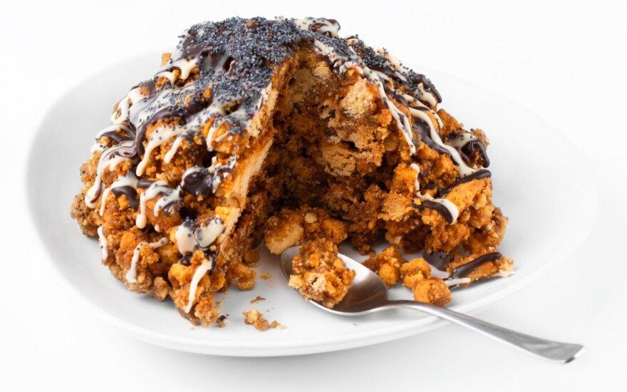 Greitas sausainių pyragas su RUDUDU