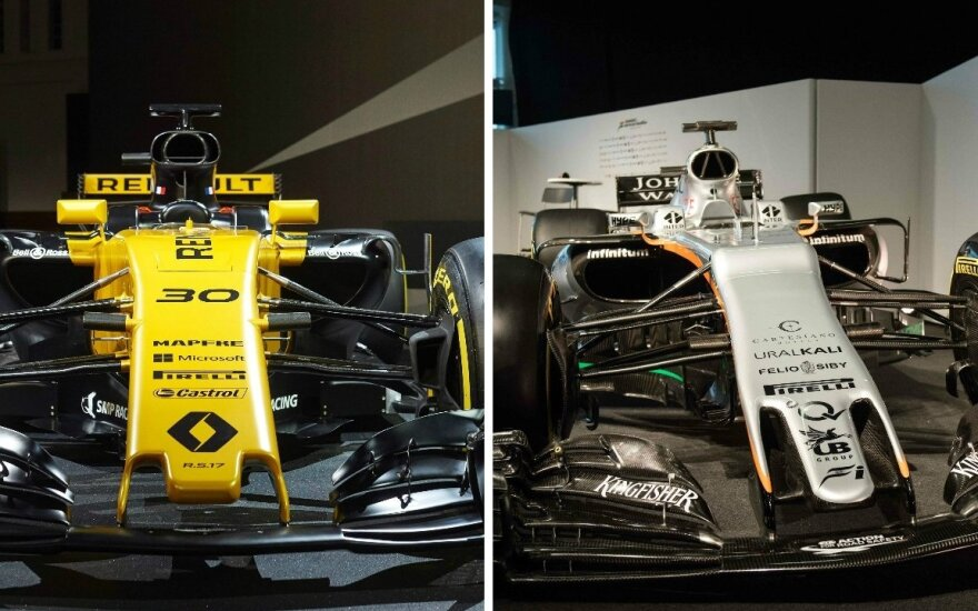 "F-1 ""Renault"" ir ""Force India"" nauji automobiliai"