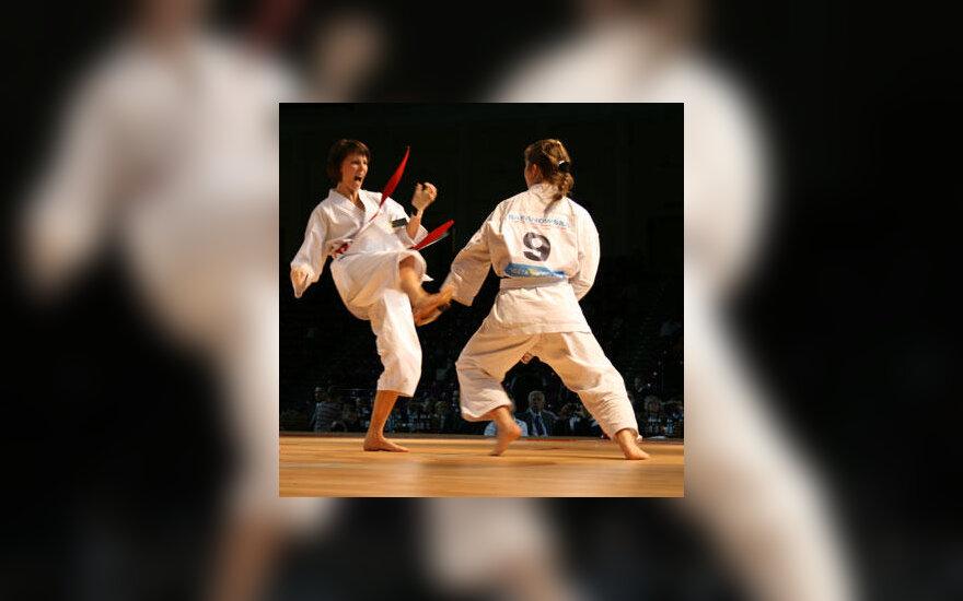 Kristina Kacevičiūtė (kairėje) kovoja su Malgorzata Baranowska