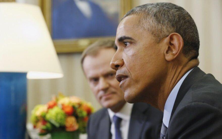 Barackas Obama ir Donaldas Tuskas