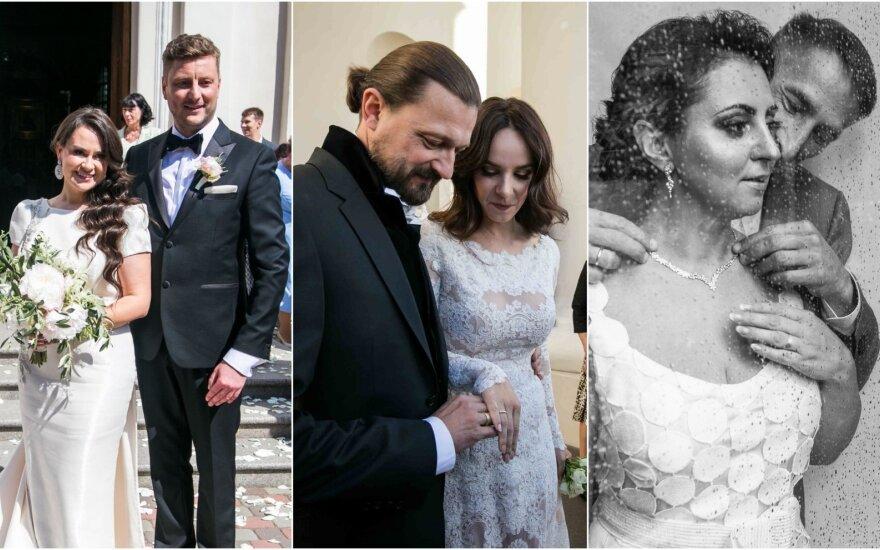 Garsių žmonių vestuvių akimirkos