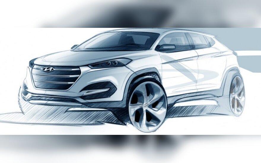 Hyundai Tucson eskizas