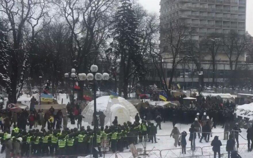 Prie Ukrainos Rados – susirėmimai