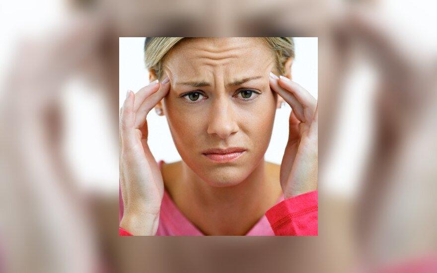 Kokias ligas gali signalizuoti nuolatinis galvos skausmas?