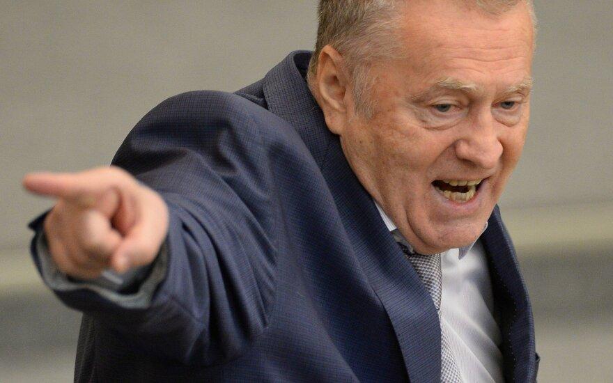 "Už V. Žirinovskio žodžius stabdo ""RTR Planeta"" transliavimą Lietuvoje"