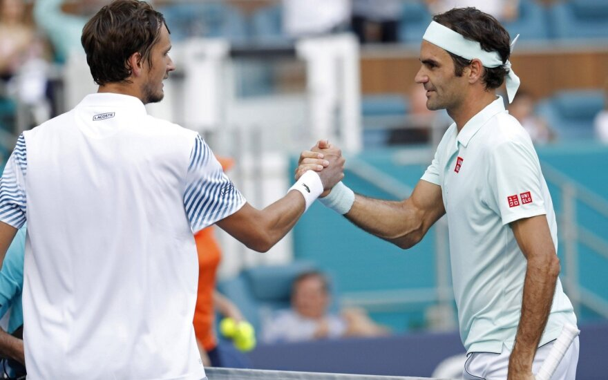 Rogeris Federeris (dešinėje), Danilas Medvedevas