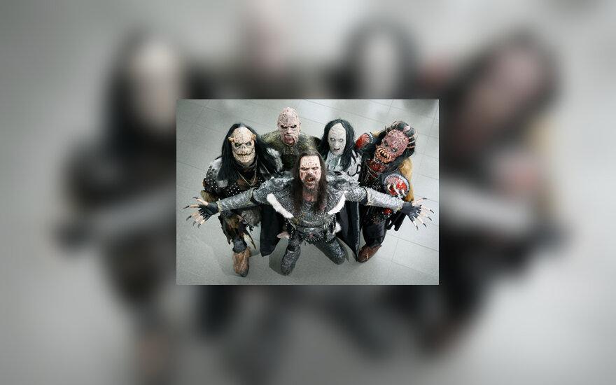 """2006 m. Eurovizijos nugalėtojai - suomių grupė """"Lordi"""""""