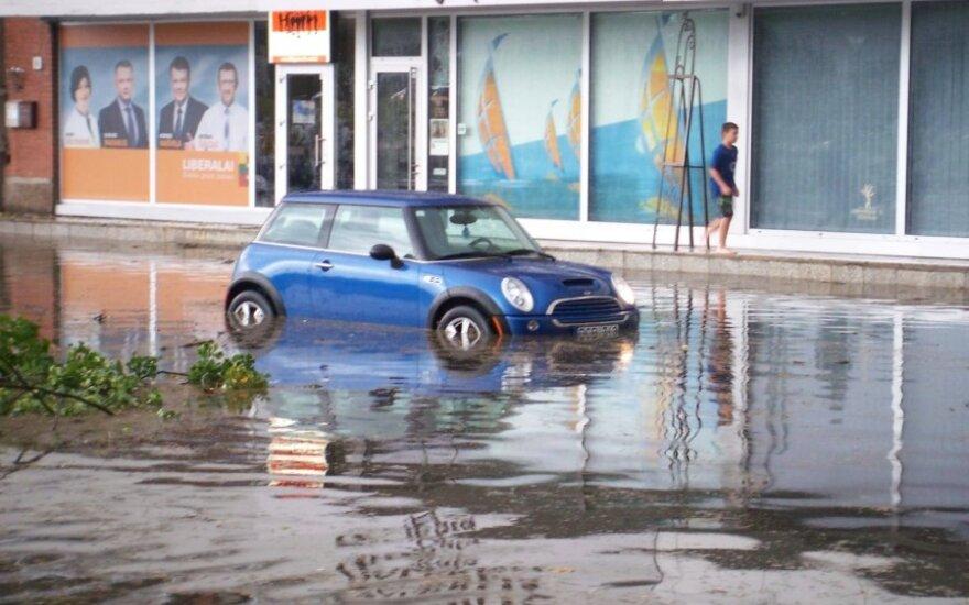 Audros Klaipėdoje padariniai