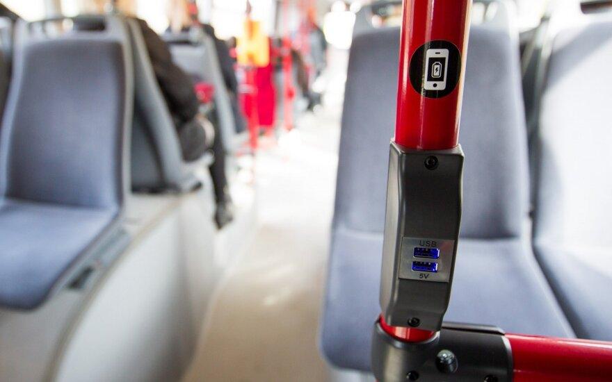 """Naujieji """"Scania"""" autobusai sostinėje"""