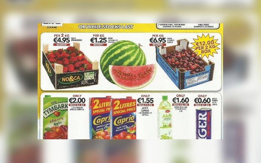 Už kiek Airijoje apsiperka lietuviai: parodė, kokias akcijas siūlo parduotuvė