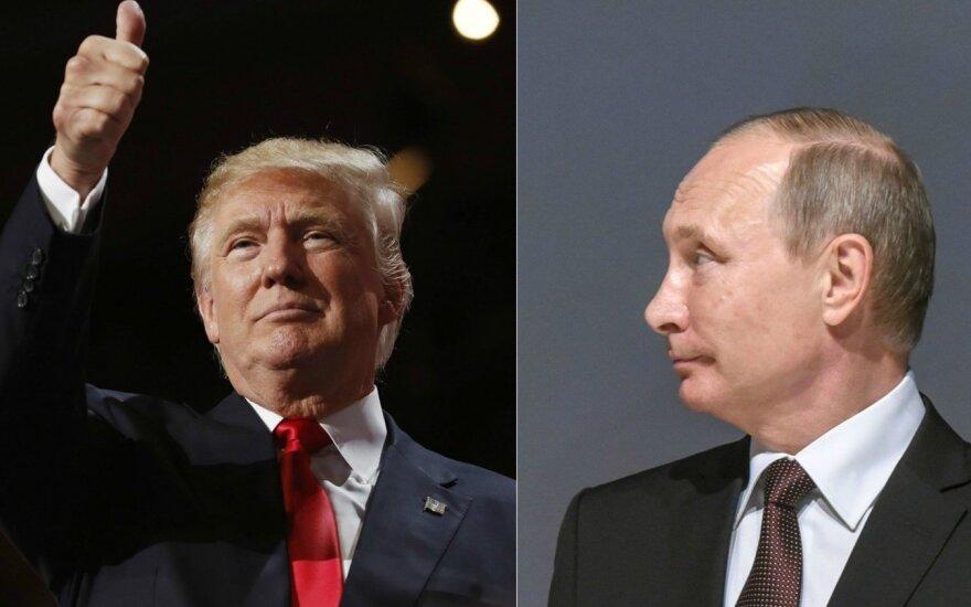 D. Trumpas pagyrė V. Putiną