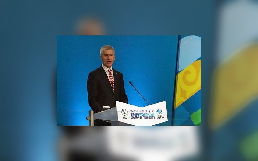 FISU prezidentas Olegas Matycinas
