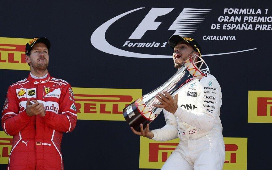 Sebastianas Vettelis ir Lewisas Hamiltonas