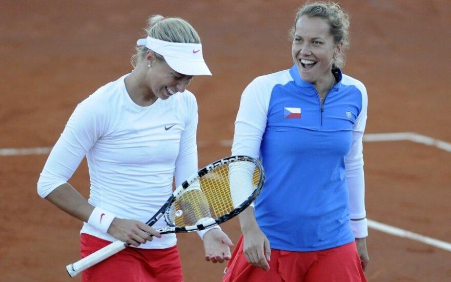Andrea Hlavackova ir Barbora Zahalavova-Strycova