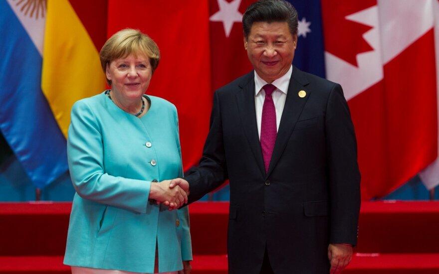 Xi Jinping ir Angela Merkel