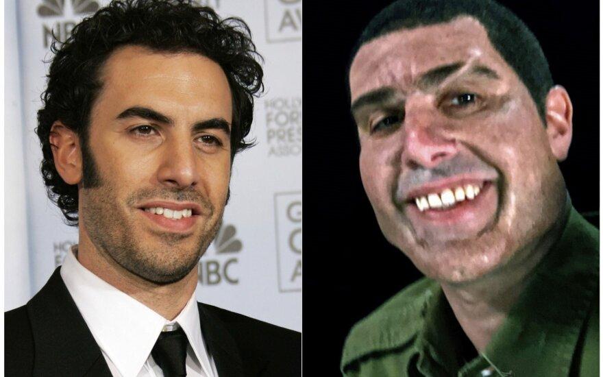 Izraeliečius linksmina nauja groteskiška Sachos Barono Coheno karikatūra