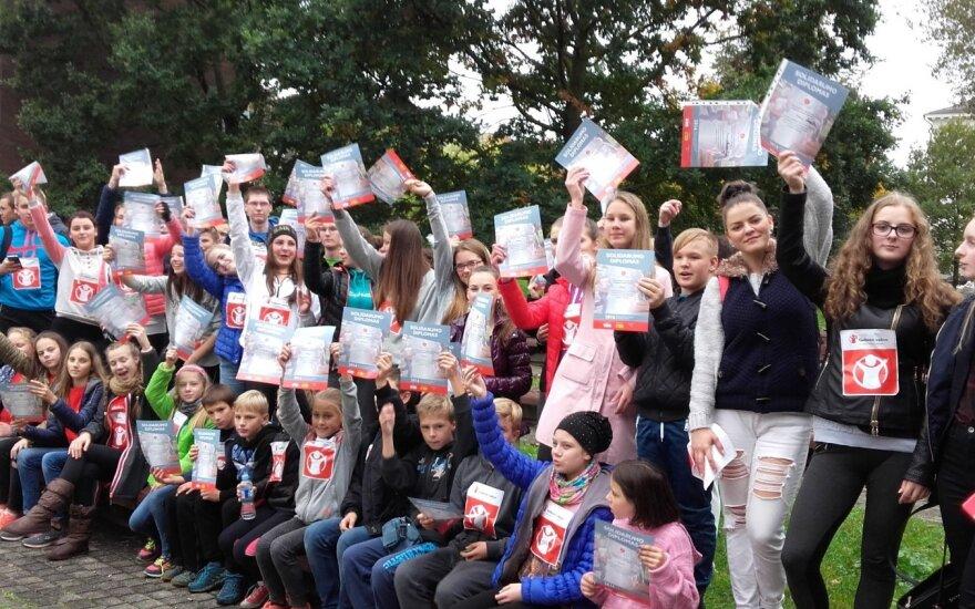 Šiauliuose vykusiame bėgime dalyvavo daugiau nei šimtas mokinių