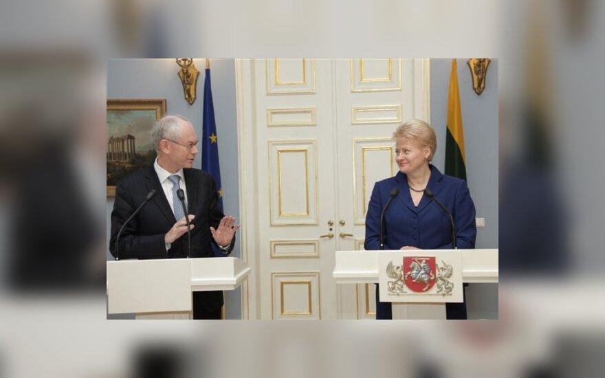 Dalia Grybauskaitė  ir  Hermanas van Rompuy
