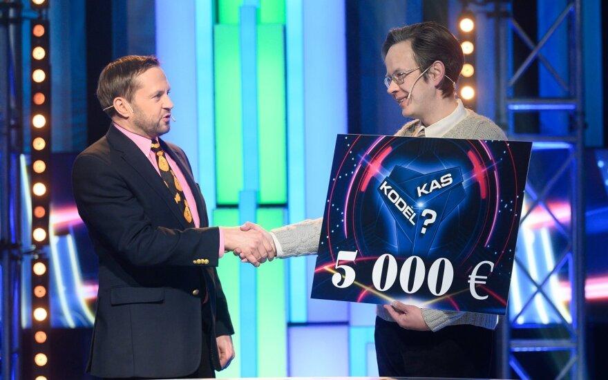 """Žaidimo nugalėtojas S. Stulas / Foto: """"Kas ir kodėl?"""" rengėjų"""