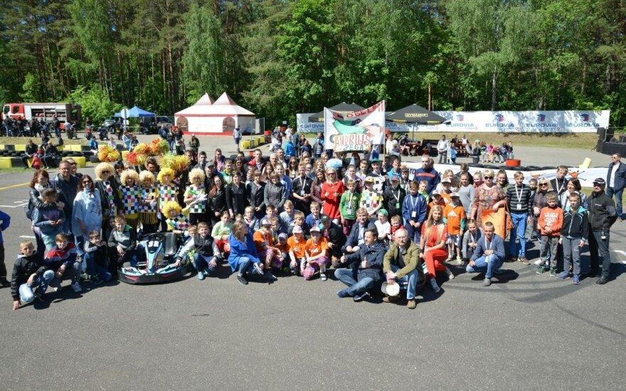 Kartingų turnyras Vilniuje