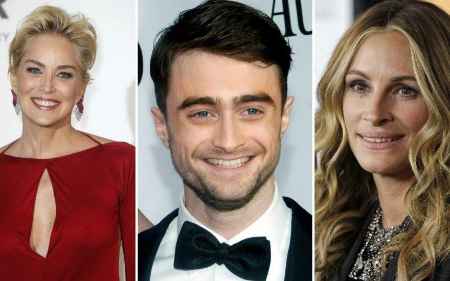 Sharon Stone, Danielis Radcliffe'as, Julia Roberts
