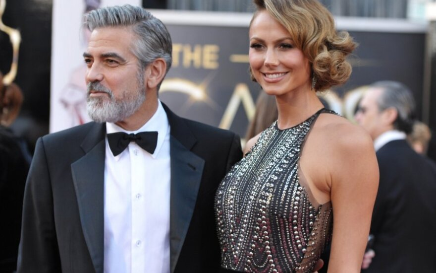 George Clooney ir Stacy Keibler