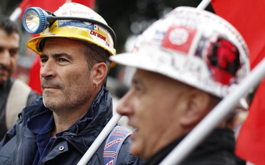 Darbuotojų protestai Italijoje