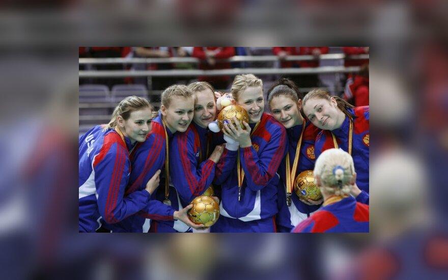 Rusijos rankininkės apgynė pasaulio čempionių titulus