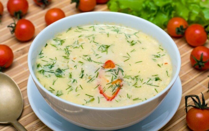 Tiršta vištienos sriuba su česnakais