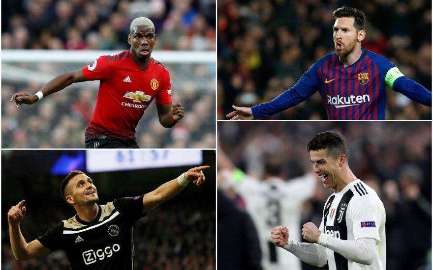 Polis Pogba, Lionelis Messi, Dušanas Tadičius, Cristiano Ronaldo