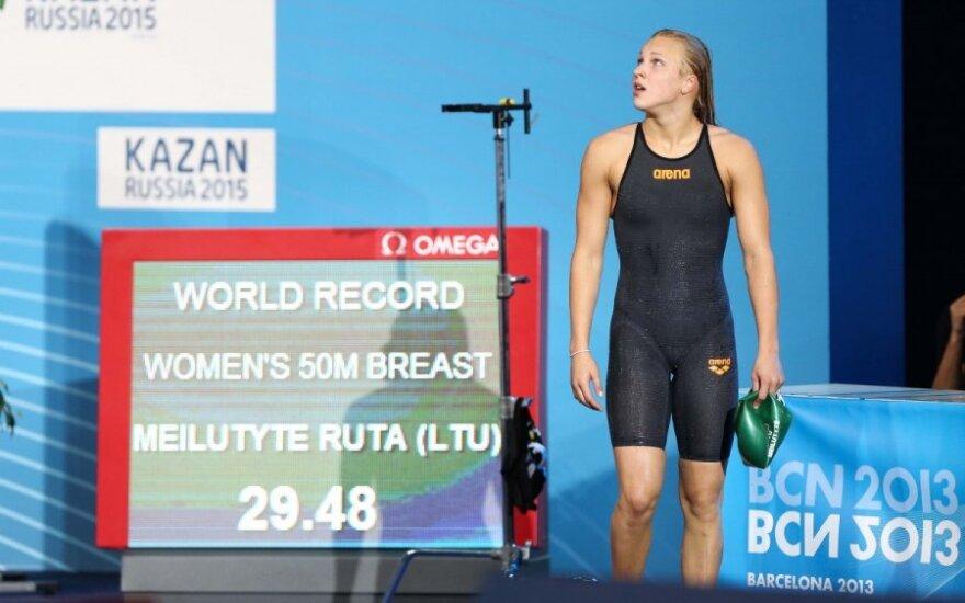Rūta Meilutytė pagerino pasaulio rekordą