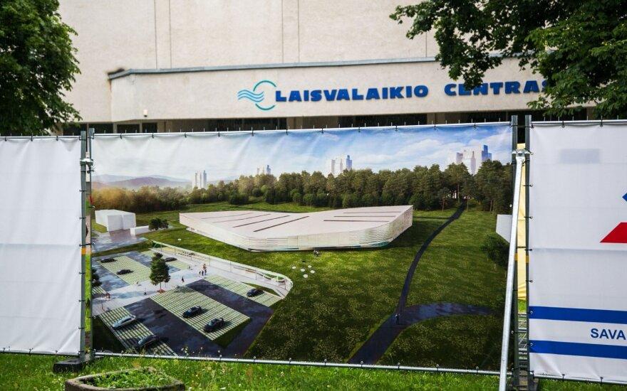 Lazdynų baseino Vilniuje statybos vėluoja dėl techninių priežasčių