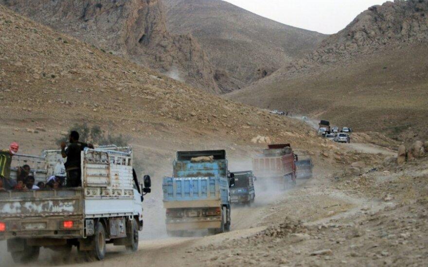 Irako gyventojai praneša apie antskrydžius